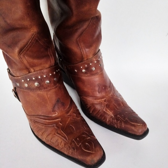1414afb6d32 ~MIA~ 💯% leather COWBOY BOOTS, Size 6.5